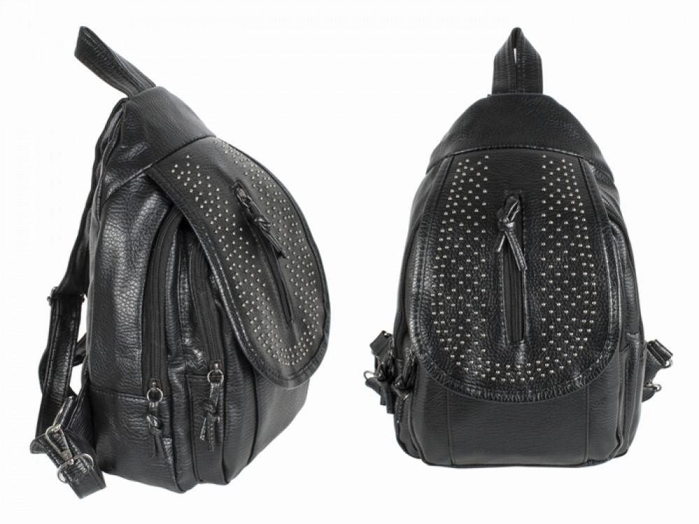 Рюкзак жіночий з кнопками Чорний