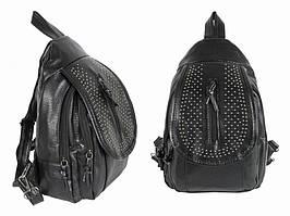 Рюкзак женский с кнопками Черный
