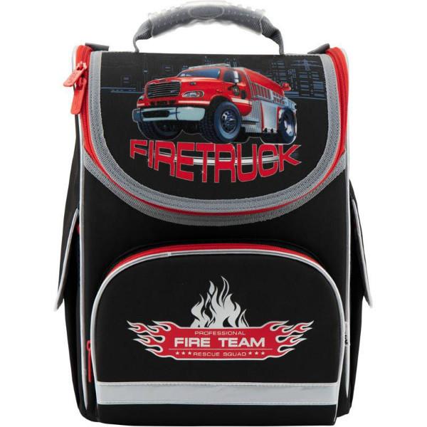 Kite Kids Школьный каркасный рюкзак Пожарная машина K18-501S-1 Firetruck