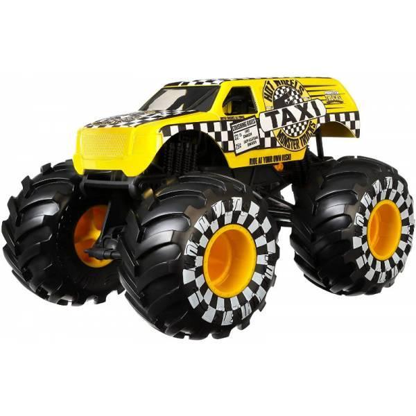 Hot Wheels Monster Trucks Внедорожник джип Такси 1:24 Scale GJG77 taxi Monster Jam die-cast