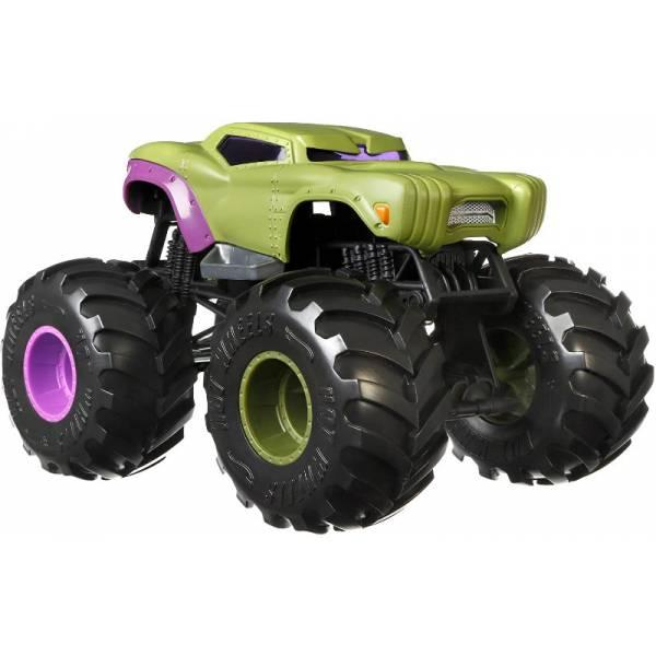 Hot Wheels Monster Trucks Внедорожник джип Халк 1:24 Scale GJG69 marvel hulk Monster Jam die-cast