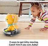 Fisher-Price Смійся і навчайся наздожени кошеня GJW35 Laugh Learn Crawl-After Cat on a Vac Musical Baby Toy, фото 4