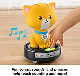 Fisher-Price Смійся і навчайся наздожени кошеня GJW35 Laugh Learn Crawl-After Cat on a Vac Musical Baby Toy, фото 3