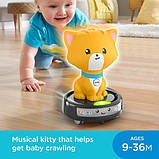 Fisher-Price Смейся и учись догони котенка GJW35 Laugh Learn Crawl-After Cat on a Vac Musical Baby Toy, фото 2
