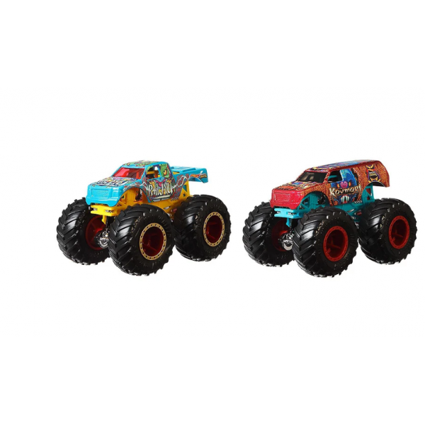 Hot Wheels Monster trucks Набор внедорожников 1:64 Scale GJF66 Raijyu vs. Koumori gigant wheels