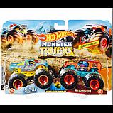 Hot Wheels Monster trucks Набор внедорожников 1:64 Scale GJF66 Raijyu vs. Koumori gigant wheels, фото 5