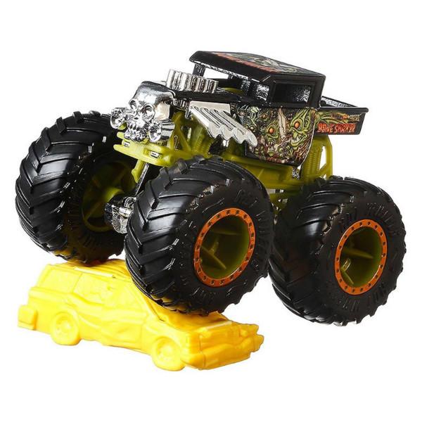 Hot Wheels Monster Jam Внедорожник джип 1:64 Scale GJF40 Bone Shaker Monster Trucks 54/75
