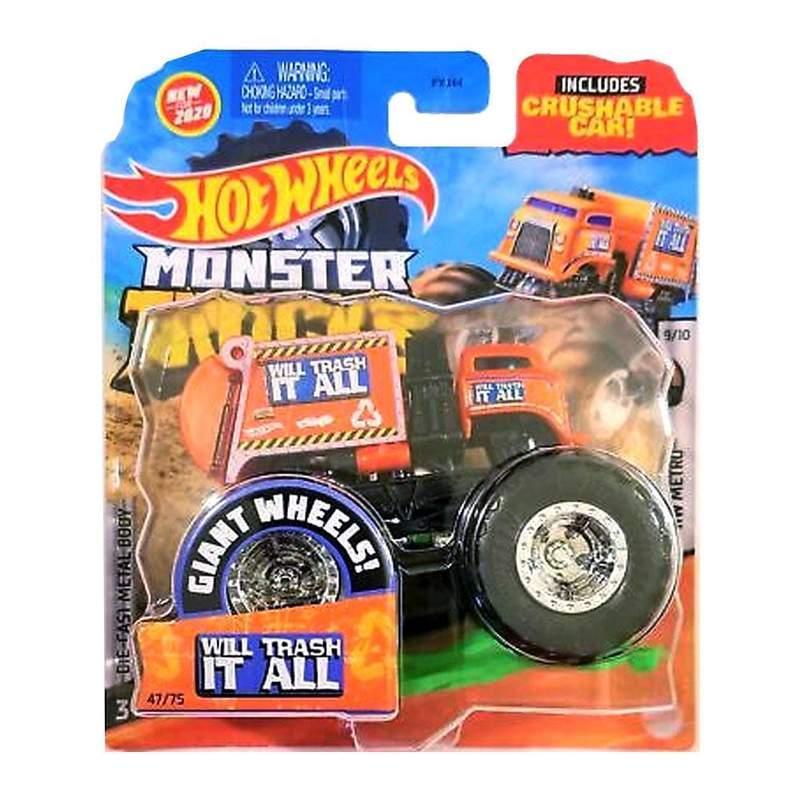 Hot Wheels Monster Jam Внедорожник джип 1:64 Scale Will Trash It All Monster Trucks 47/75