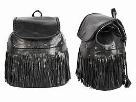 Рюкзак женский с бахрамой Черный