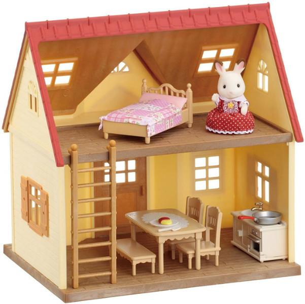 Sylvanian Families Calico Critters Дом коттедж Шоколадного Кролика 2055 Cozy Cottage Starter Home