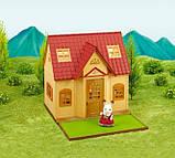 Sylvanian Families Calico Critters Дом коттедж Шоколадного Кролика 2055 Cozy Cottage Starter Home, фото 5