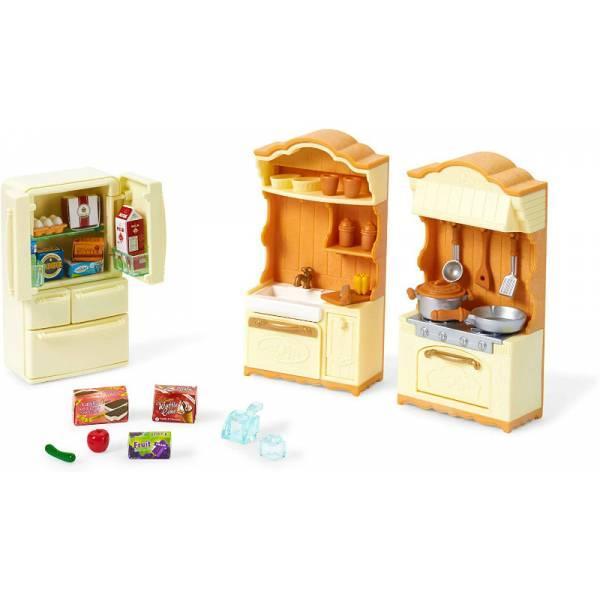 Sylvanian Families Calico Critters Кухня с холодильником CC1810 Kitchen Play Set