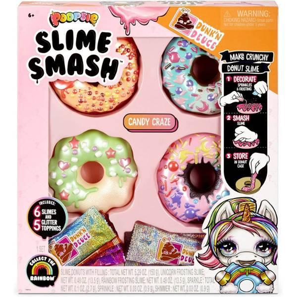 Poopsie Слайм пончик Донат Хрустящий 569275 Slime Smash Candy Craze with Crunchy Donut Slime