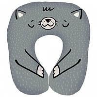 Подушка для путешествий дорожная Котик