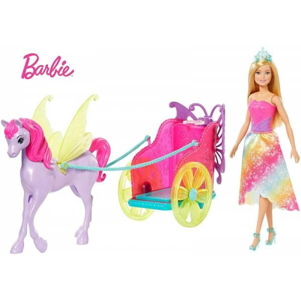 Barbie Барби с лошадью и колесницей Дримтопия GJK53 Dreamtopia Horse and Chariot