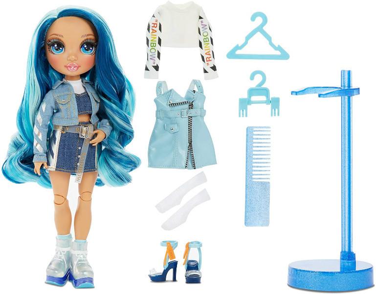 Rainbow High Радужные девочки Скайлер Бредшоу синяя 2020 569633 Skyler Bradshaw Blue Fashion Doll