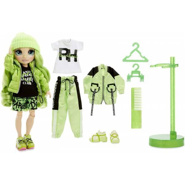 Rainbow High Радужные девочки Джейд Хантер зеленая 2020 569664 Jade Hunter Green Fashion Doll