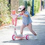 Smoby Триколісний самокат Королле з місцем для ляльки пупса 750179 Corolle Scooter, фото 2
