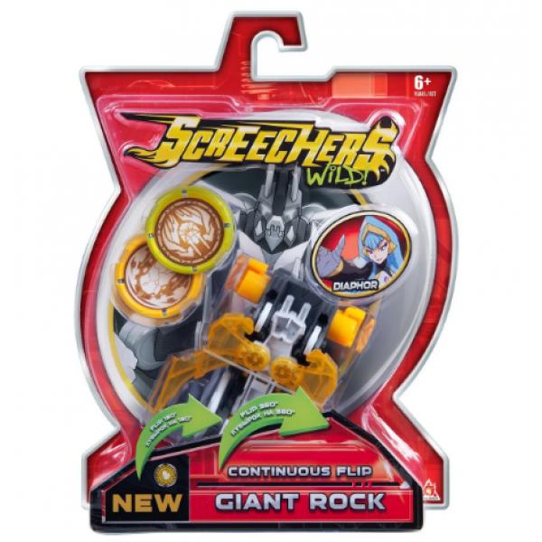 Screechers Wild S2 L1 Дикие Скричеры Машинка трансформер Джаент Рок EU684104 giant rock jogress flip