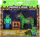 Minecraft S4 Майнкрафт фигурка Зомби и Зомбилошади 16603 Zombie with Zombie Horse, фото 2