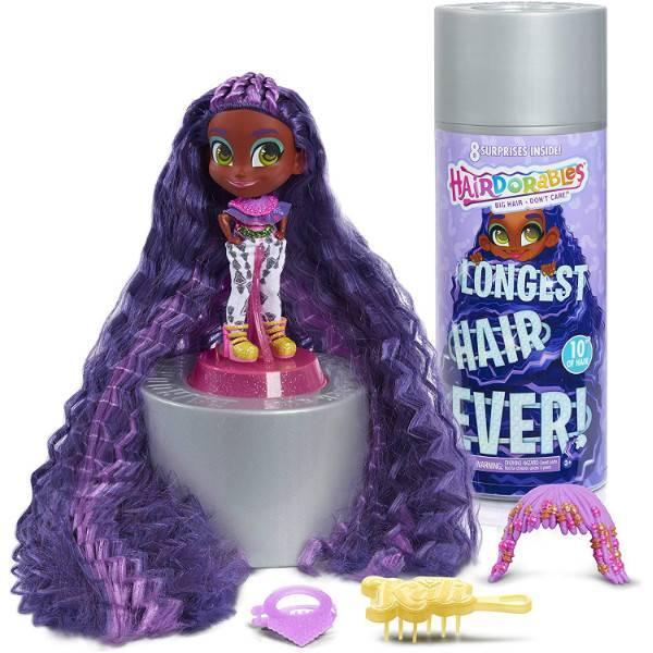Hairdorables S1 Хэрдораблс куколка сюрприз длинные волосы кали 23884 Longest Hair Ever Kali