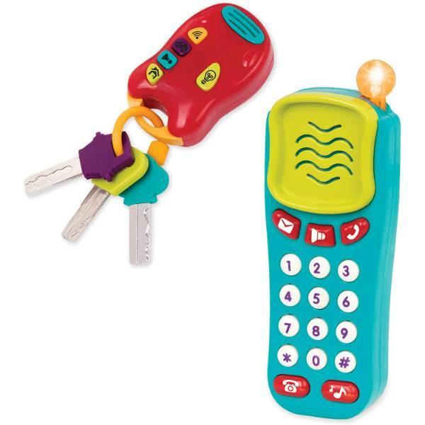 Battat Набор телефон и ключи со светом и звуком BT2629Z Combo Set Light Sound Phone Keys