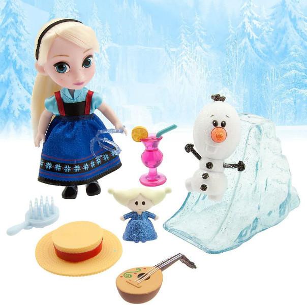 Disney Animators Холодное сердце Эльза в чемоданчике Collection Frozen Elsa Mini Doll