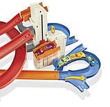 Hot Wheels Трек Автоматический скоростной лифт автолифт 4 в 1 и 5 машинок FXN21 Auto Lift Expressway, фото 6