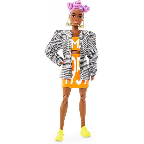 Barbie BMR 1959 W2 БМР барби афро лиловые волосы GPF14 Fully Poseable Fashion Doll Petite with Lilac Hair