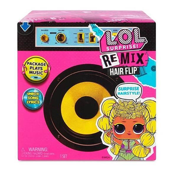 L.o.l. surprise! s4 w1 кукла сюрприз с волосами ремикс Музыкальный сюрприз 566960 Remix Hair Flip Dolls