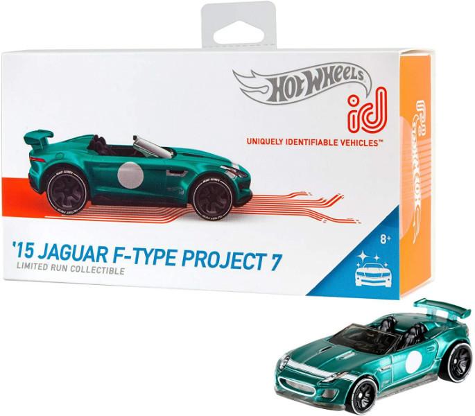 Hot wheels id S1 машинка гонка Ягуар 06/06 FXB18 15 Jaguar F-Type Project 7 fresh factory toy car