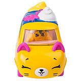 Shopkins Cutie Cars S3 Мини-машинка Седан-круасан 56749 Berry Fast Croissant Die Cast  #QT2-15, фото 3