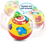 VTech Интерактивный развивающий мяч черепашка Wiggle and Crawl Ball, фото 3