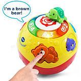 VTech Интерактивный развивающий мяч черепашка Wiggle and Crawl Ball, фото 4