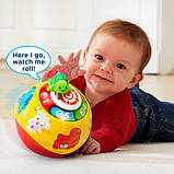 VTech Интерактивный развивающий мяч черепашка Wiggle and Crawl Ball, фото 6