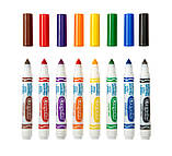 Crayola смываемые маркеры фломастеры 20 штук 20 Count Classic Ultra-Clean Washable Broad Line Markers, фото 3