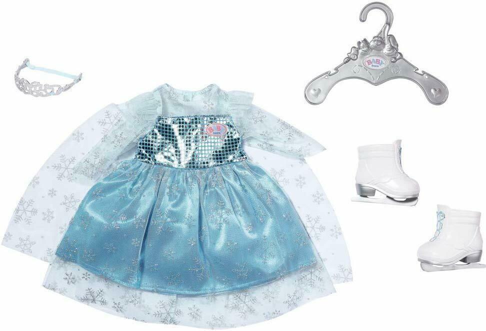 Zapf Одежда для куклы пупса платье принцессы Эльзы 827550 Baby Born Princess on Ice Set 43cm
