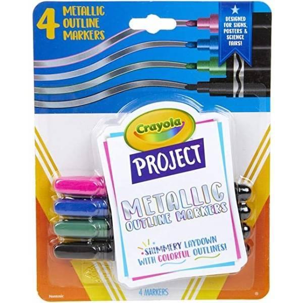 Crayola Металлические маркеры с контуром 58-8357 Metallic Outline Markers