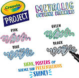 Crayola Металлические маркеры с контуром 58-8357 Metallic Outline Markers, фото 2