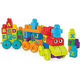 Mega Bloks Конструктор Поезд алфавит DXH35 Building Basics ABC Learning Train, фото 3