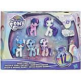 My Little Pony Волшебное Зелье набор из 5 пони блестящие единороги E9106 Unicorn Sparkle Collection, фото 2