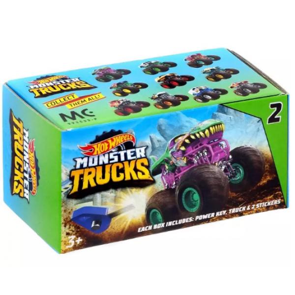 Hot Wheels S2 Машинка сюрприз с заводным ключом GBR24 Monster Trucks Mini Mystery Trucks