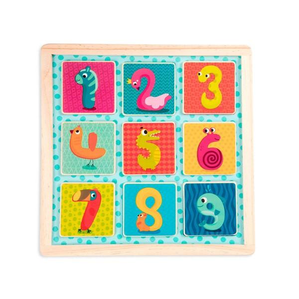 Battat Деревянная игрушка вкладыш Магнитные цифры BX1848GZ