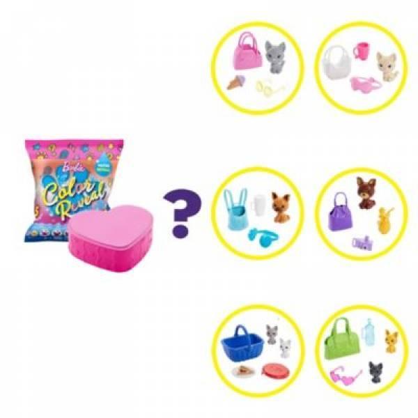 Barbie S1 Барбі кольоровий сюрприз вихованець GPD25 Color Reveal Pet Set