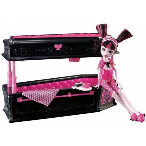 Monster High Дракулаура и кровать шкатулка BDC40 Draculaura Doll Jewelry Box Coffin
