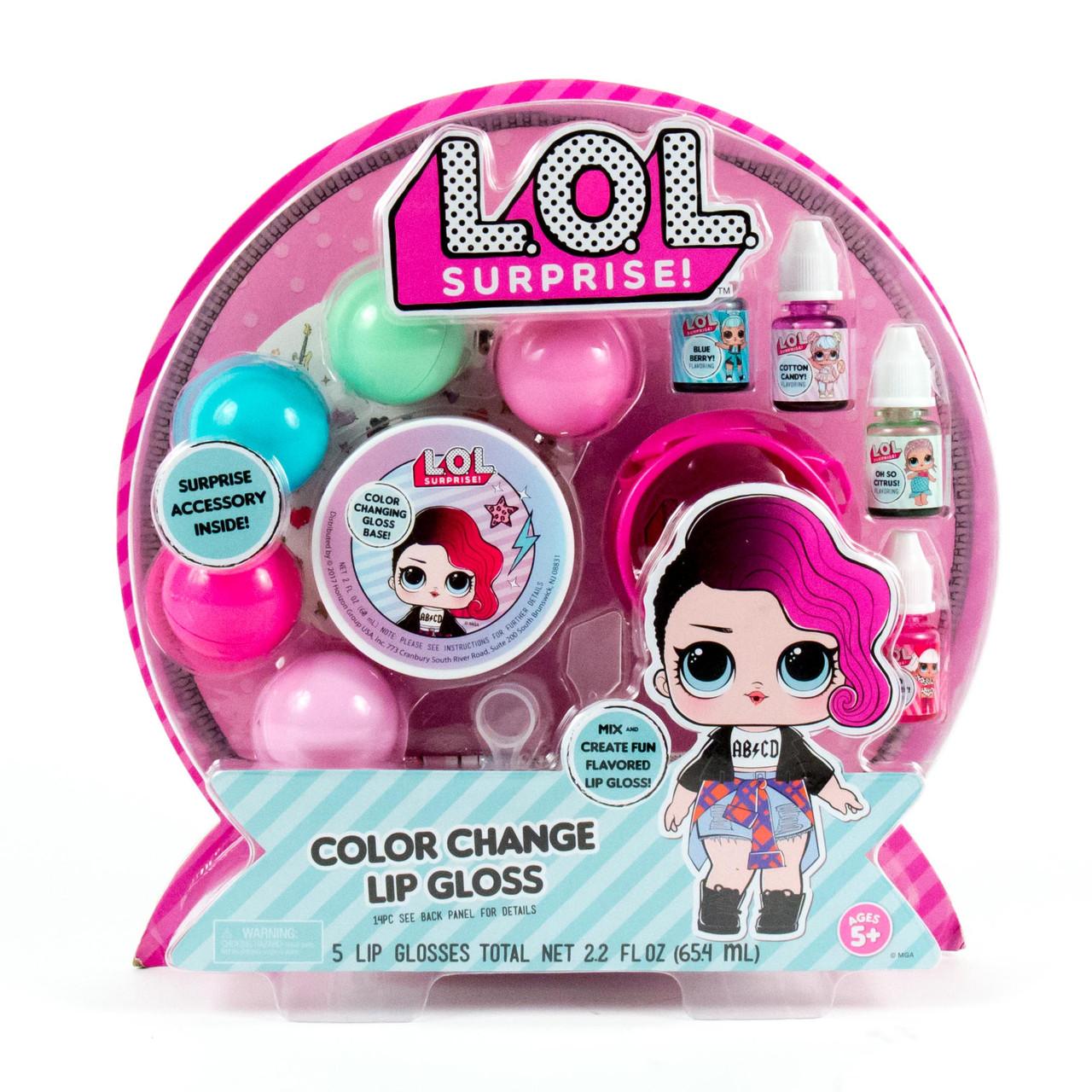 L.O.L. Surprise! Набор косметики блеск для губ 84669 Color Change Lip Gloss Kit