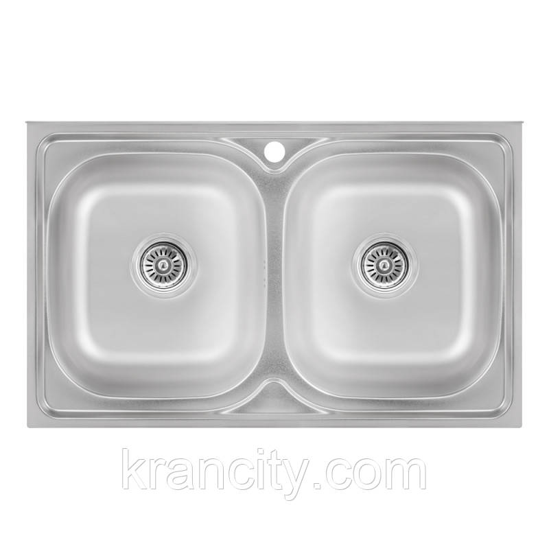 Кухонная мойка Lidz 5080 Satin 0,8 мм (LIDZ5080SAT8)