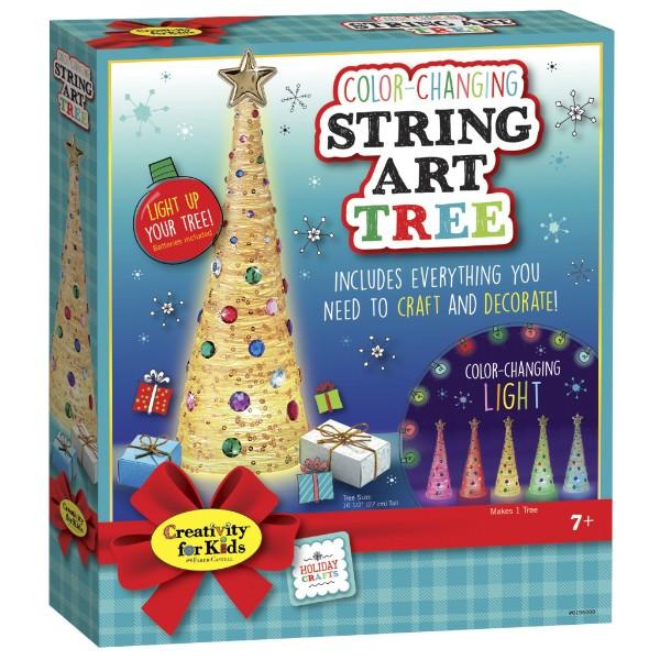 Faber-Castell Творческий набор стилиз. Елка с подсветкой 6196000 Color Changing String Art Tree