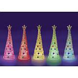 Faber-Castell Творчий набір стилиз. Ялинка з підсвічуванням 6196000 Color Changing String Art Tree, фото 5
