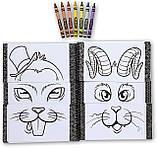 Crayola Интерактивная раскраска Смешные Лица животные 95-0292 Funny Faces Zany Zoo Coloring Book, фото 4